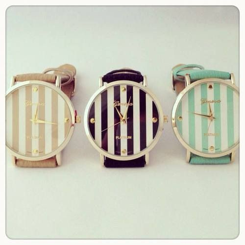 stripes on watches! #watches #style #fashion