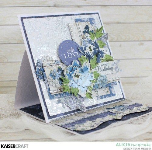 Easel Card featuring Wandering Ivy Paper Pad By Alicia McNamara