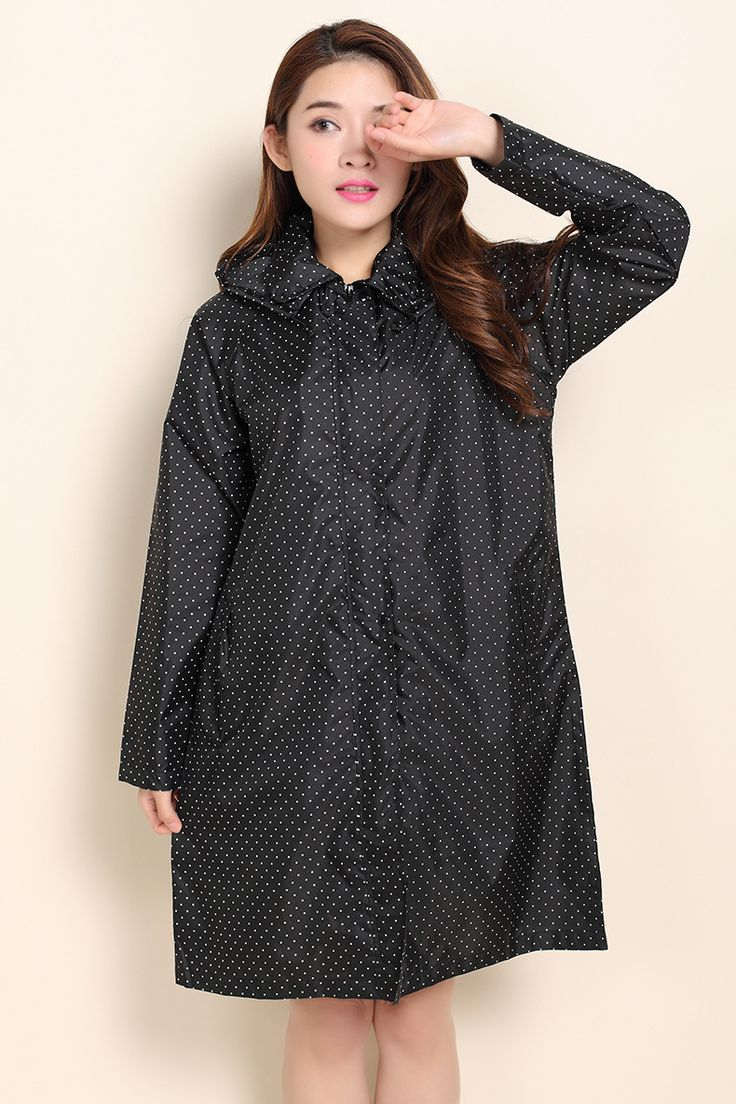 fashion Rain Poncho Coat Jackets Female DOTS thin adult long raincoat women chubasqueros Impermeables Mujer #Affiliate