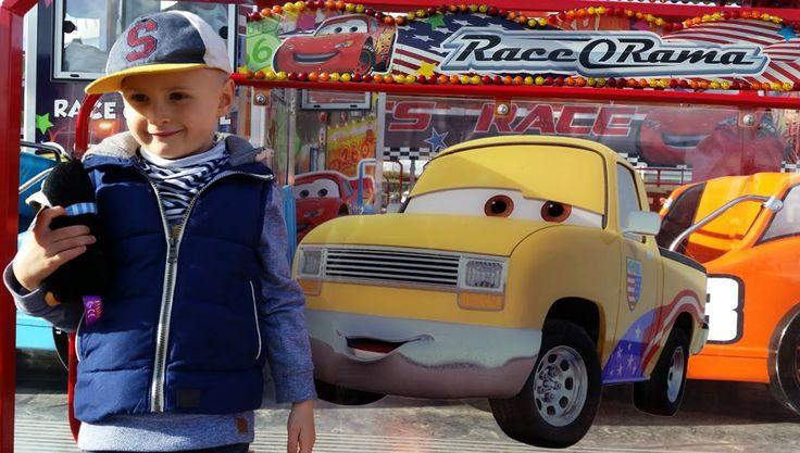 Disney Cars Fun fair rides. Blue Orange