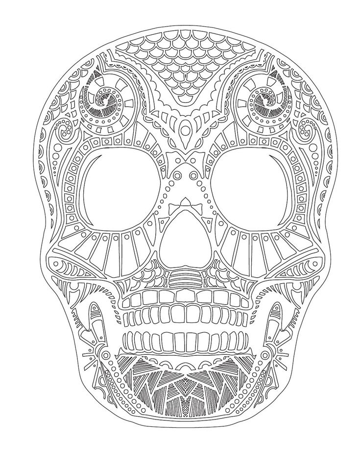 154 best Coloring pages to print - Skulls images on Pinterest ...