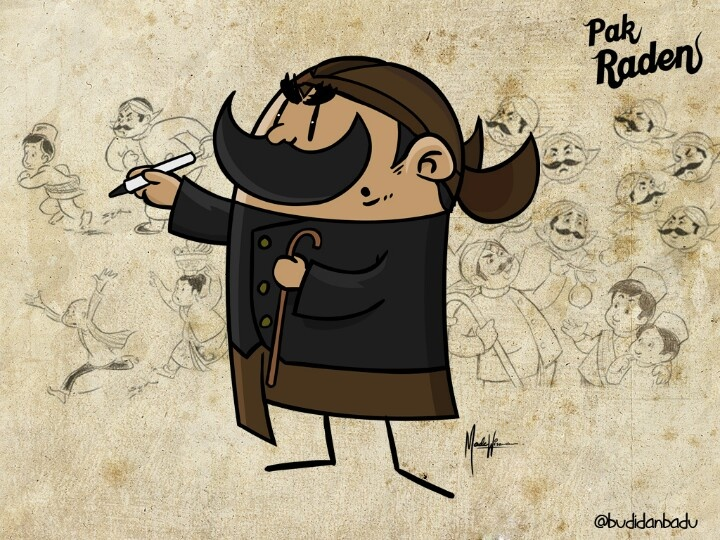 """Pak Raden"". #illustration #pakraden #indonesia"