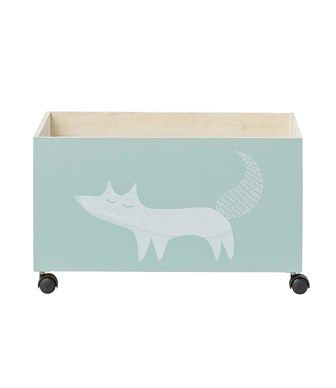 CONTENITORE CON ROTELLE FOX MENTA - BLOOMINGVILLE - Kiddy Kabane