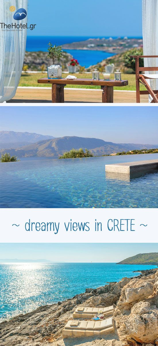 Embrace island life! Dreamy views and infinity pools await you at TheHotel.gr #crete  #travel #villas
