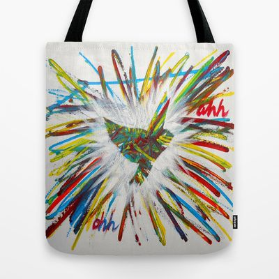 ThePeaceBombs - JJT Tote Bag by ThePeaceBomb - $22.00 #thepeacebomb #totebage #madeintheusa #love #words #peace #animal #colors