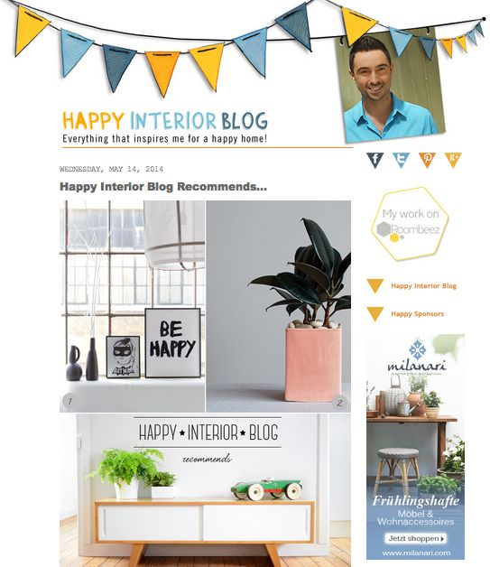 GERMANY A big thank you to Igor from Happy Interior for featuring our BE HAPPY print on its wonderful blog.