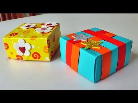 ▶ Cajita como para regalo - Manualidades para regalar. Gift box - YouTube