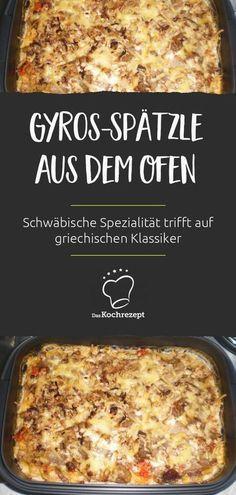 Gyros-Spätzle aus dem Ofen
