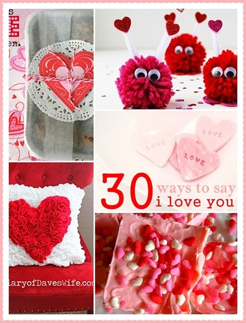 30 DIY Valentine Crafts and Projects...lots of recipes, crafts, printables and gifts to make for yourself or loved ones.