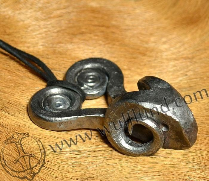 HEAD+OF+RAM,+hand+forged+pendant,+inspirated+by+Celtic+finds