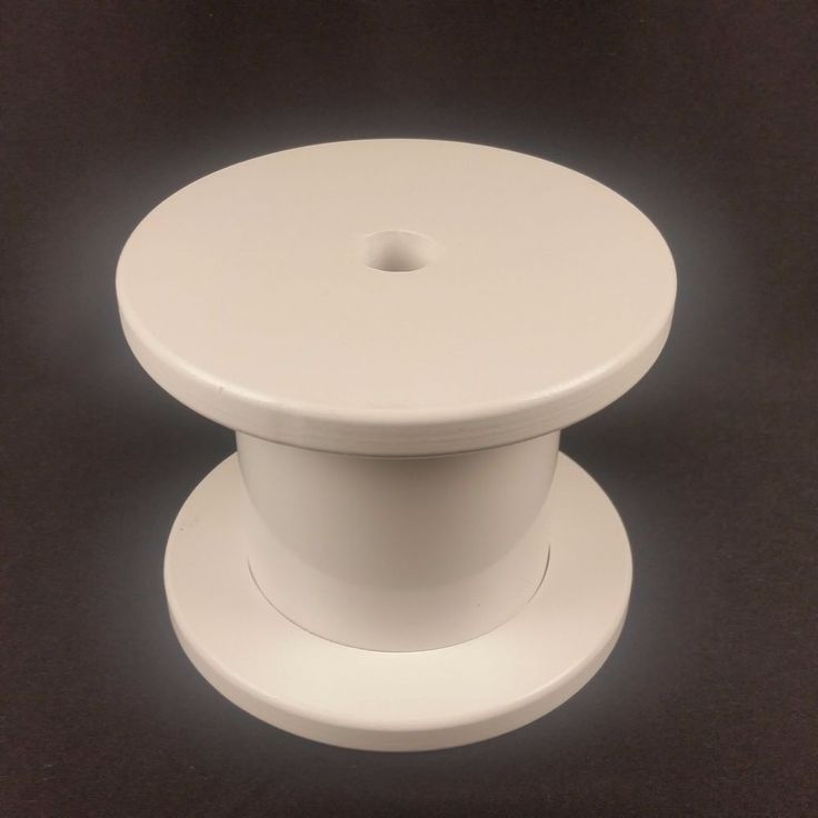 Large Plastic Spools Craft Supply Store Display Prop Creative Wide Sturdy White  #Unknown