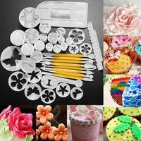 Wish | Fashion about 33 or 37Pcs Xmas Fondant Cake Cookie Sugarcraft Decorating Plunger Cutters Mould Set Christmas Party Supplies Cake Mold Set Baking Tool