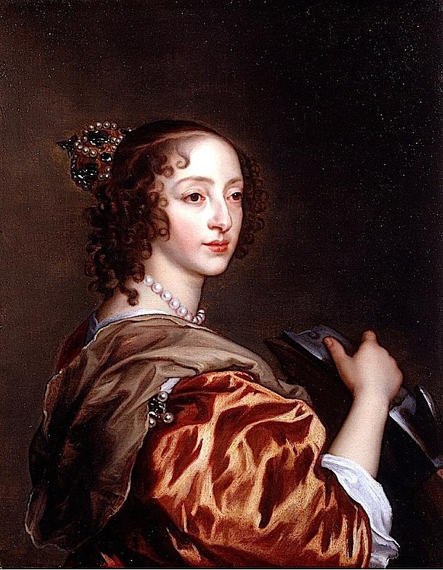 ca. 1639 Henrietta Maria as St Catherine of Alexandria by Sir Anthonis van Dyck