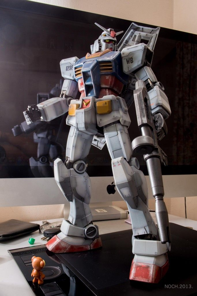 Mega Size 1/48 RX-78-2 Gundam: 1st Gunpla Painted By Chino