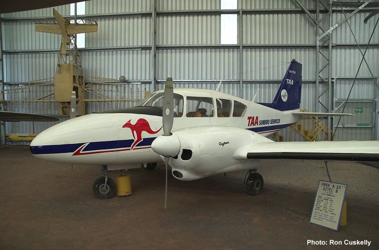 QAM AIRCRAFT COLLECTION, Piper PA23-250 Aztec VH-MBX c/n 27-2007. Painted as TAA's Sunbird Services VH-TGP, 22/4/06. Photograph Ron Cuskelly.