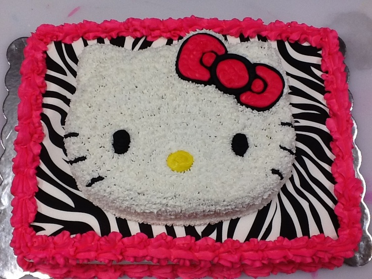 Hello Kitty Sheet Cake Images : Hello Kitty Zebra Sheet Cake By Cake Smacker Hello Kitty ...