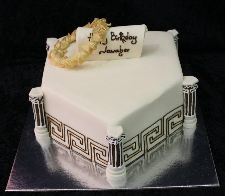 Greek Themed Wedding Cake