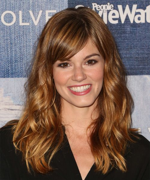 Rachel Melvin Long Wavy Casual Hairstyle With Side Swept