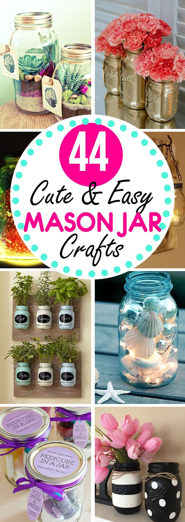 When it comes to craftiness, it's hard to beat the utility of a mason jar. These simple little containers can be used as everything from piggy banks to candle holders, and the more elaborate crafters out there have even built things like mason jar chandeliers. 44 Ways to Re-Purpose Your Old M...