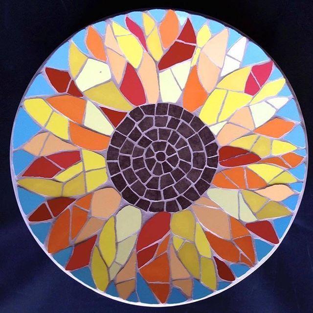 Mosaic Sunflower Bowl Art Sunflowers Mosaics Sun Sunflower