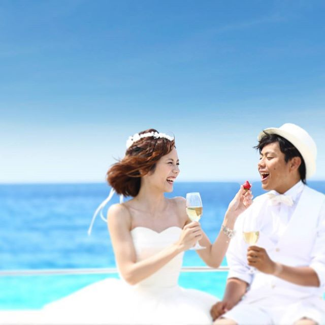 『ラソール ガーデン・アリビラ』 海のみえる空間で乾杯 *沖縄 披露宴 会場一覧*