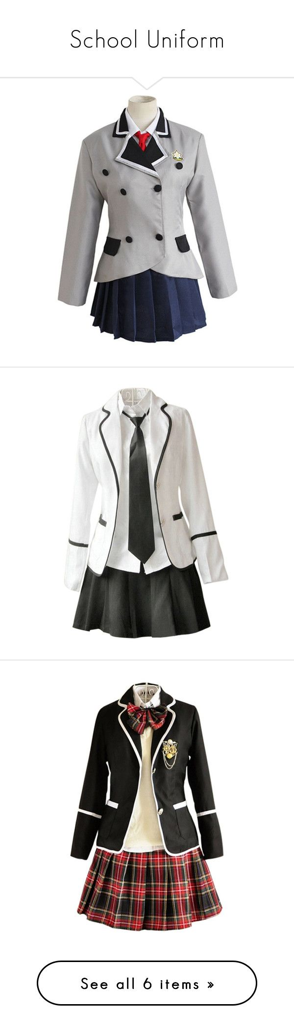 """School Uniform"" by bubble-loves-you ❤ liked on Polyvore featuring cosplay, dresses, other, outfit, anime, misc and school uniform"