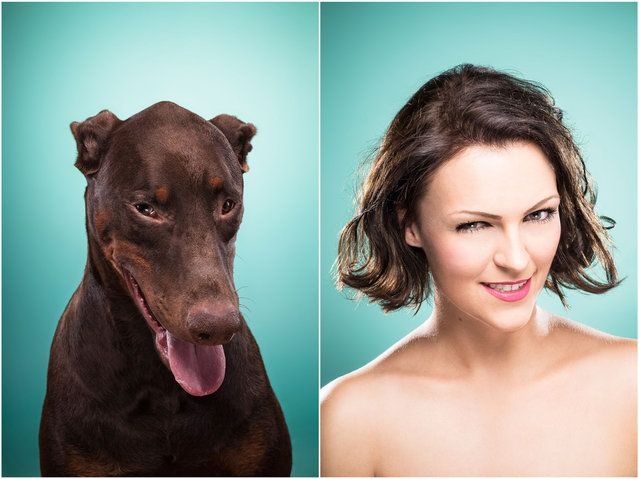 Elena and Cosmo the dog. (Photo by Ines Opifanti/Caters News)| Petnook.com #Petnook