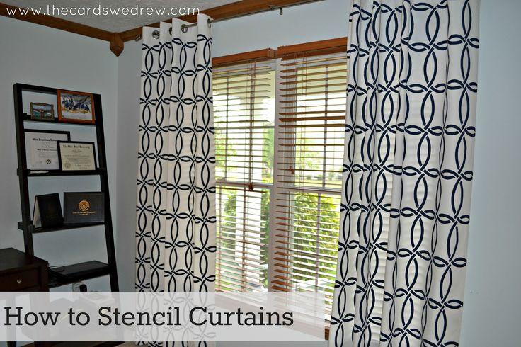 DIY Stenciled Curtains... so cool!