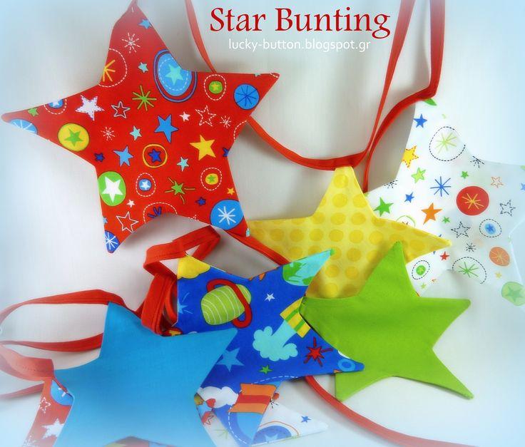 Star bunting Σημαιοστολισμός αστέρια