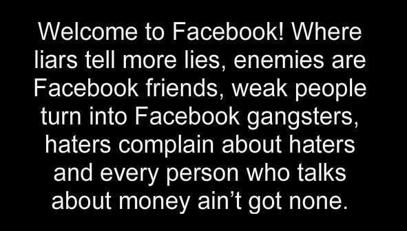 Welcome To NeverNever Land: Soo Truee, Facebook Stuff, Facebook Quotes, Sad True, So True, Funny Stuff, Average Facebook, Gotta Laughing, Freak Funny