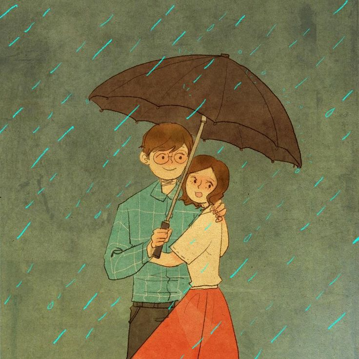 "♥ ""Come closer & I'll keep you dry."" ~ ""THIS IS WHAT LOVE LOOKS LIKE…"" by Puuung at www.grafolio.com ♥"