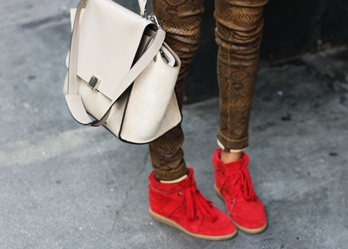 Celine trapeze bag + Isabel Marant Red shoes \u003d oh happy day! | My ...