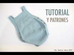 DIY Como hacer pelele tejido con dos agujas paso a paso   Oh, Mother Mine DIY!!