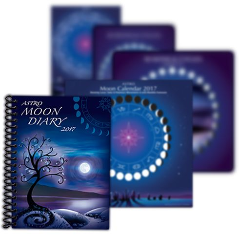 Moon diary and astrology calendars by Astrocal 2017 - Astrocal