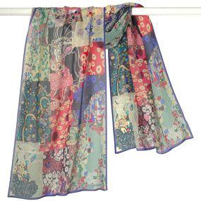 The Met Store - Klimt Patchwork Scarf: Met Store, Fashion Ideas, Museums, Klimt Patchwork, Flat Shapes, Fashionable Scarves, Scarfs, Klimt Scarf