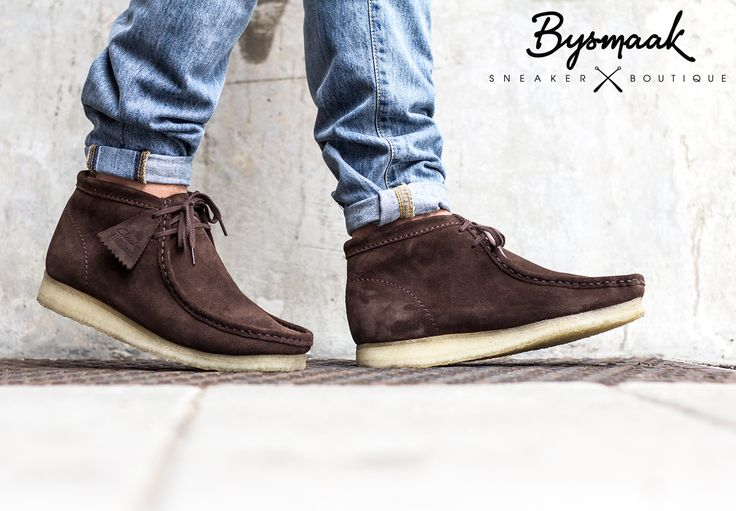 Clarks Wallabee Boot Dark Brown Suede | http://www.bijsmaak.com/clarks-wallabee-boot-dark-brown-suede.html