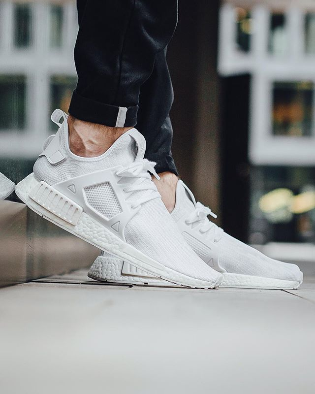 88c89d02ccb81 Adidas NMD XR1 Primeknit Triple White Release  Friday