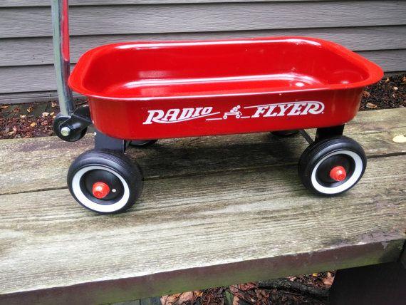 Vintage Radio Flyer Wagon Small Radio Flyer Wagon by judym2