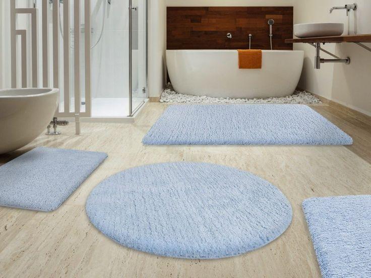 Light Blue Bathroom Rug Sets