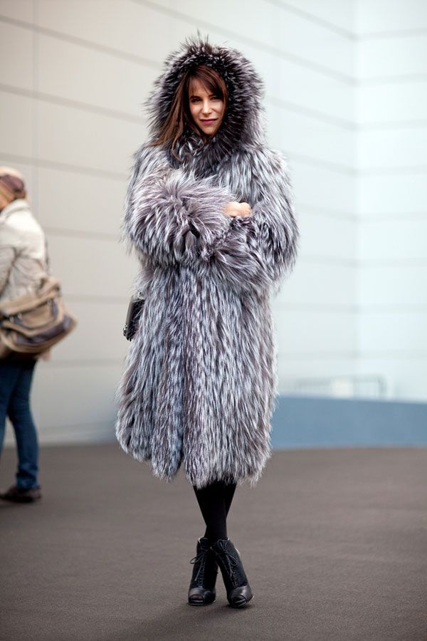 Hooded Fur: Fur Coats, Everyday Fashion, Caroline Sieber, Fashion Outfits, Fashion Week, Street Style, Girls Fashion, New York Fashion, Furry Friends