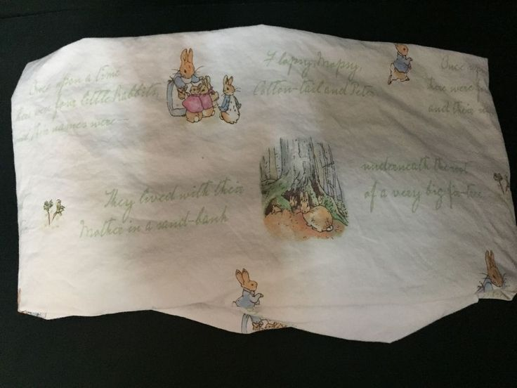 Pottery Barn Kids Crib Fitted SHEET Toddler PETER RABBIT Beatrix Potter Easter #PotteryBarnKids