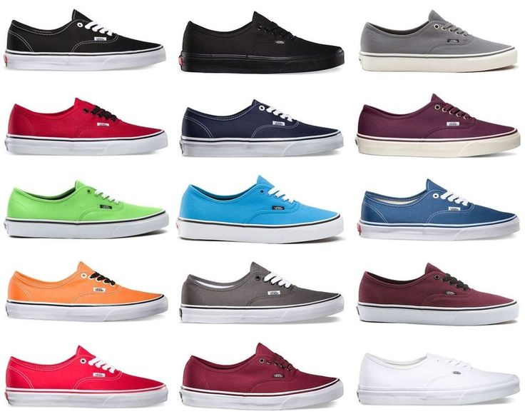 types of vans shoes