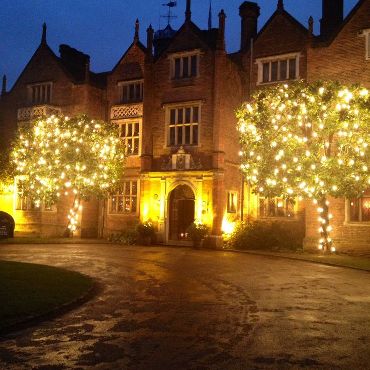 Great Fosters Hotel Surrey. Beautiful charming and especially with the lights up for the festive season! Love this hotel