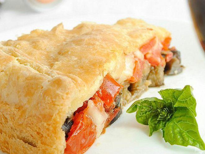 Ricetta Portata principale : Torta salata con melanzane, pomodori e caciocavallo da Dulcis in Furno