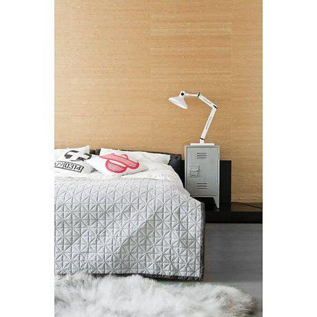 HK-living Quilt in lichtgrijs met donkergrijze band 140x200