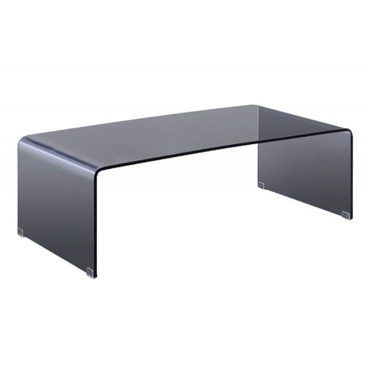 Glass coffee table Glasser Smoke 12mm tempered 110x55x35 ΕΜ720,1