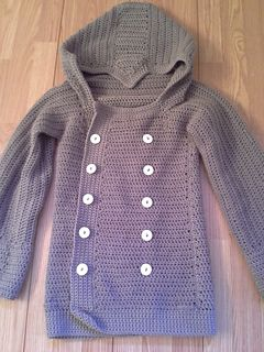 """Assassins Creed style Gamer Jacket - free crochet pattern in a whopping range of sizes: 2-4 yrs (4-6 yrs, 6-8 yrs, 8-10 yrs, x-small, small, medium, large, x-large, xx-large)- 22 (24, 26, 28, 30, 34, 38, 42, 46, 50)"""" chest circumference"""