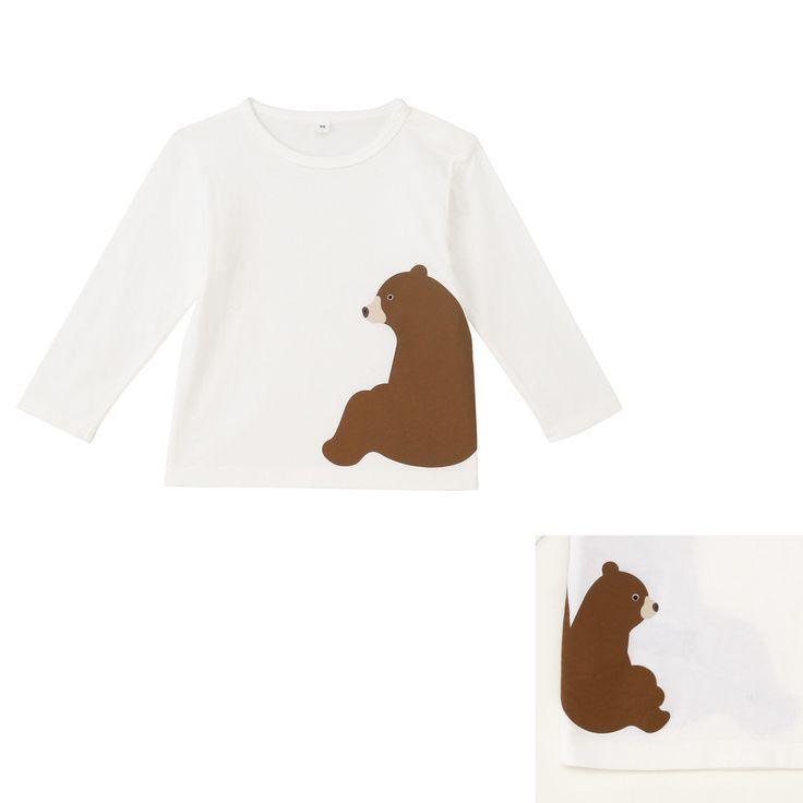 オーガニックコットンプリント長袖Tシャツ 限定店舗 無印