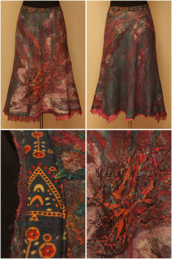 Mistress of the Mountain / Felted Clothing / Skirt by LybaV... WOW, check her stuff out!!  It is stunning.