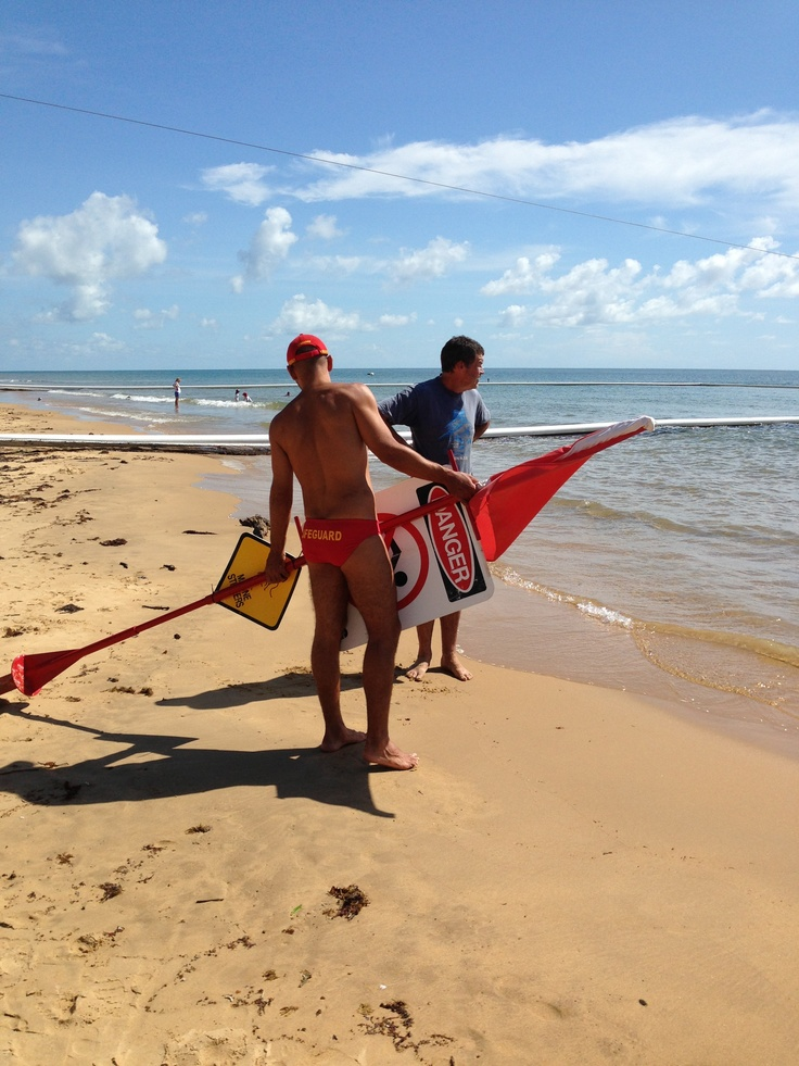 Life Guard, budgie smugglers, Mission Beach, Far North Queensland